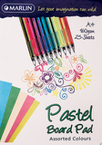 Book Board Pad Pastel Assorted - 25 sheet, 160g