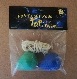 Plastic Top and Twine assorted colours in pack