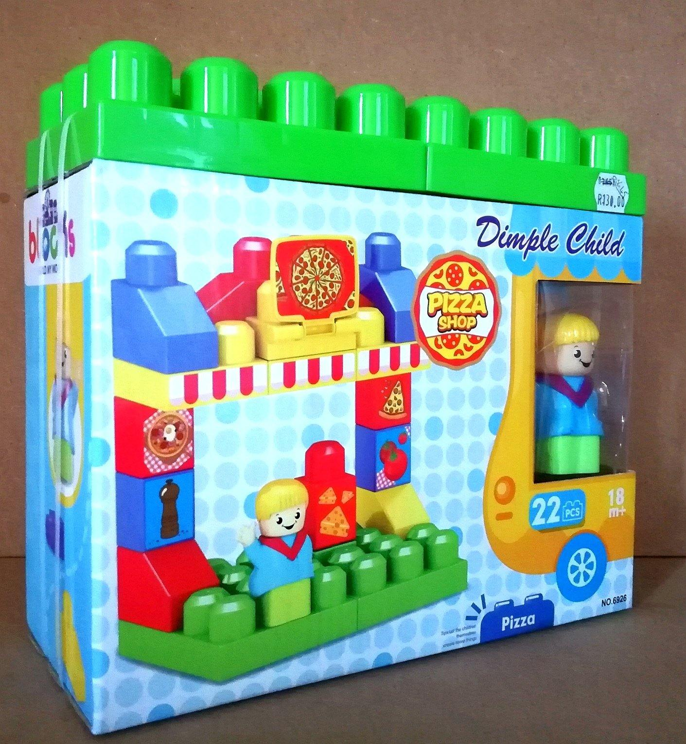 Blocks 22pc -Dimple child - Pizza