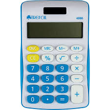 Calculator 8 Digit Blue