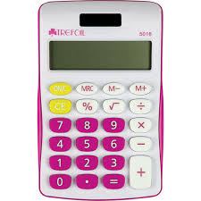 Calculator 8 Digit Pink
