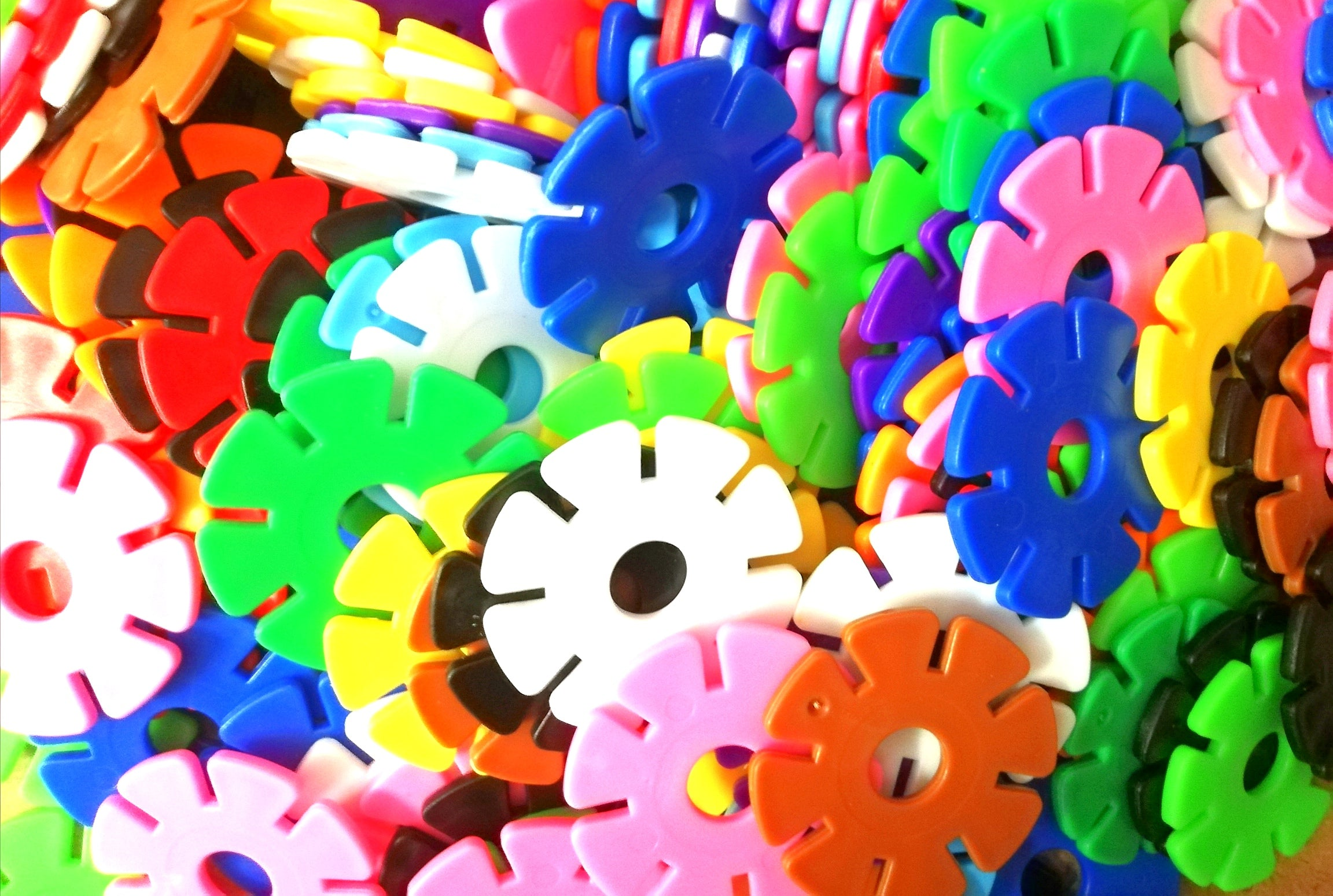 Discs - Multi colour - small Poly bag