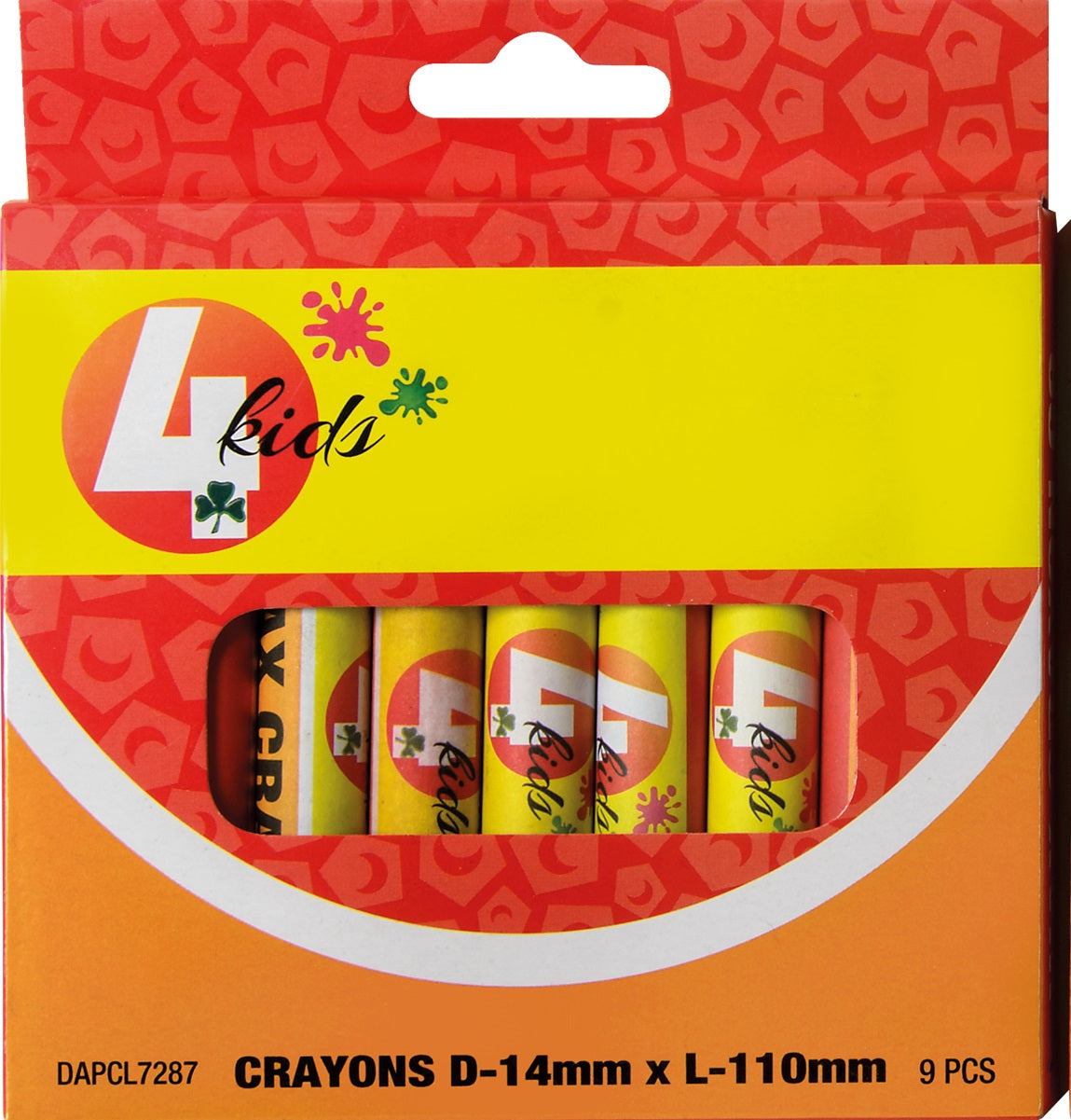 Crayons - Wax 14mm - 9's - 4kids