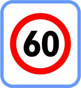 Road signs - Metal - 60 Limit, (courier costs do not apply contact for quotation)