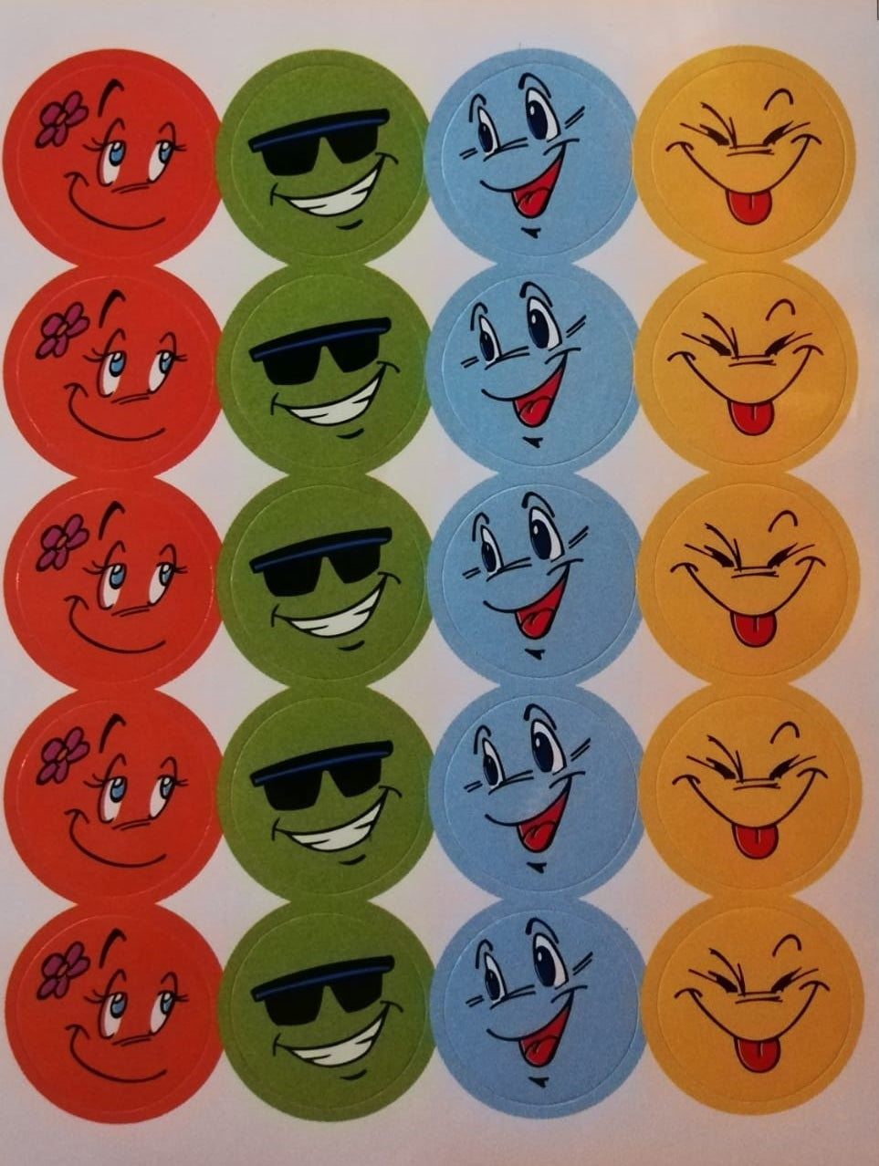 Stickers - Smiling Faces