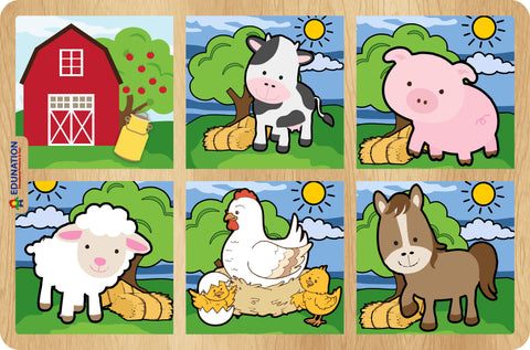 Puzzle Toddler - Farm Combo with 6 puzzles