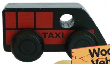 Wooden Car - Black Taxi