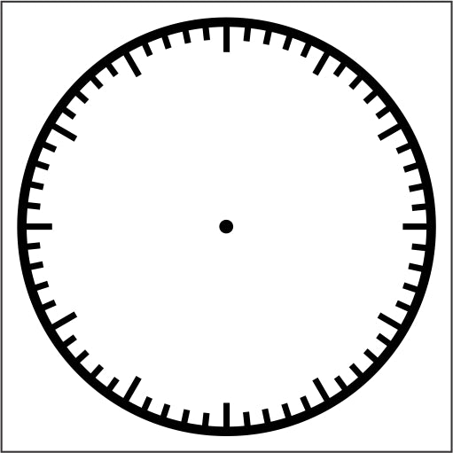 Stamp - Clock Face minutes 8cm