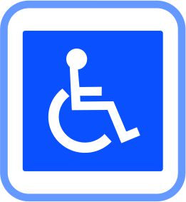 Road signs - Metal - Disabled, (courier costs do not apply contact for quotation)