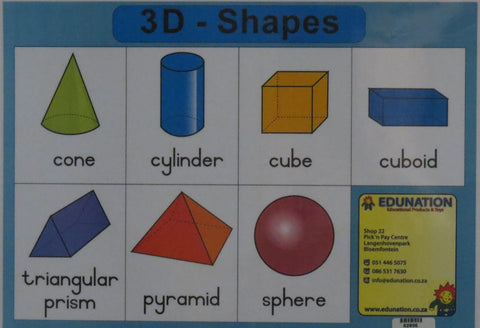 3D Shapes - Single Sided