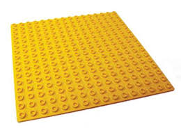 Assorted colours Base Plate Jumbo Blocks 25.5cm