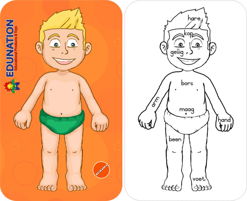 Wooden Puzzle Frame - Body Boy Afrikaans