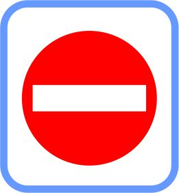Road signs - Metal - No Entry, (courier costs do not apply contact for quotation)