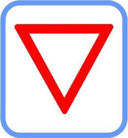 Road signs - Metal - Yield, (courier costs do not apply contact for quotation)