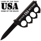 Land of the Free Home of the Brave Trigger Action Knife