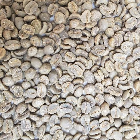 Brazil Mogiana Natural green coffee beans.