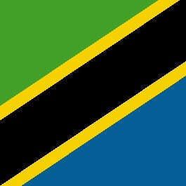 flag of tanzania a country that is famous for its peaberry green coffee beans. most coffee beans grow as twins, but peaberry is a single coffee bean when it is on the tree