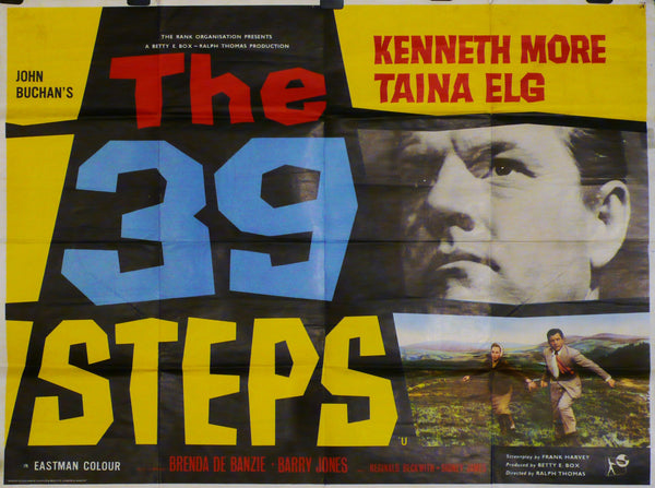 The 39 Steps - Original UK Movie Poster - Kenneth More
