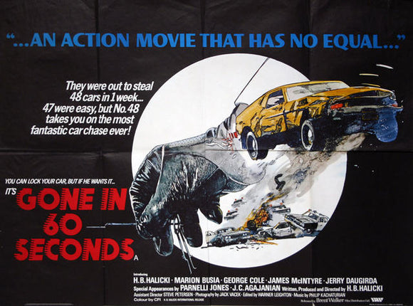 Gone In 60 Seconds  UK Quad 1974