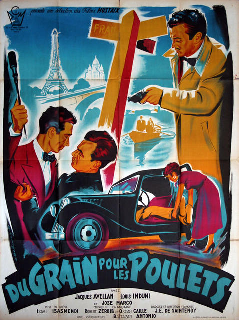 du Grain pour les Poulets  France 1954  - Citroen Traction