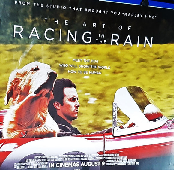 The Art of Racing in the Rain, Original UK Movie Poster, 2019. Golden Retriever, Ferrari