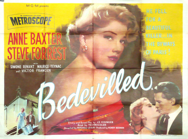 Bedevilled, Original UK Quad Movie Poster