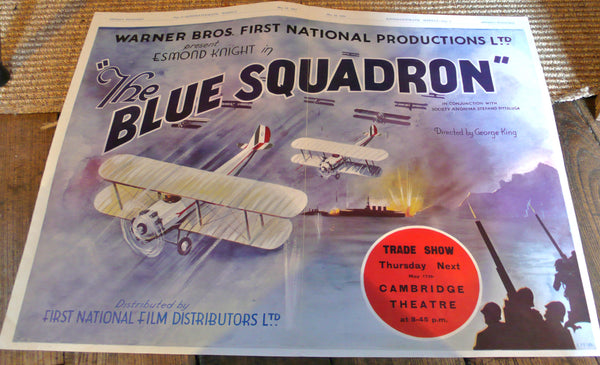 Blue Squadron - 1934, Original UK Trade Ad.