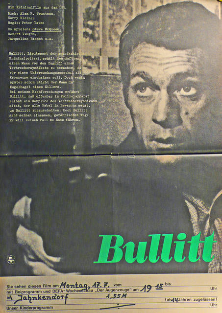 Bullitt  East Germany 1978 Steve McQueen