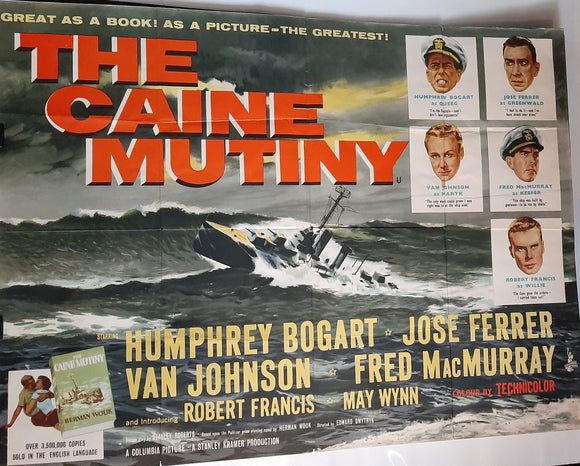 The Caine Mutiny, Original UK Movie Poster, 1954. Humphrey Bogart