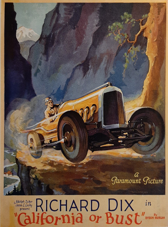 California or Bust - Original Trade Ad 1925 - Richard Dix, Duesenberg