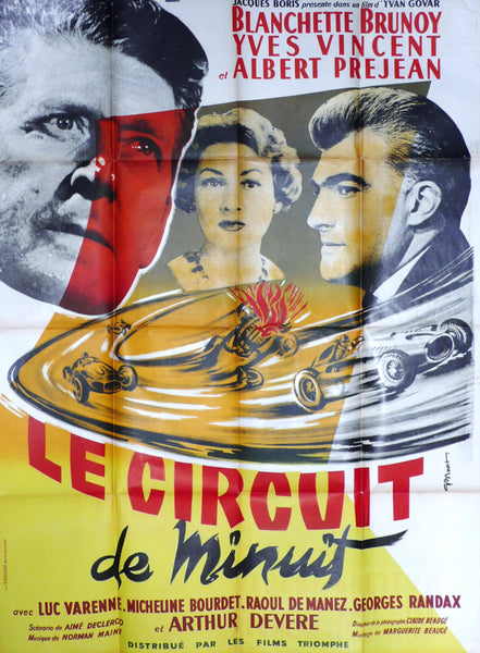 Le Circuit de Minuit, Original Movie Poster 1956