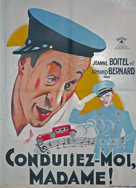 conduisez moi madame Original Movie Poster Belgium 1932