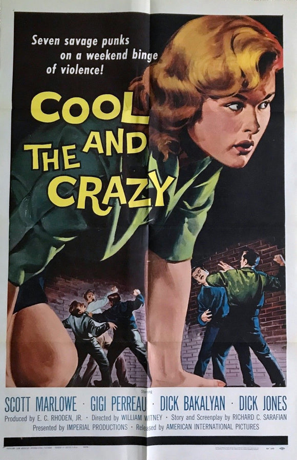 The Cool and the Crazy, Original US Movie Poster, 1958