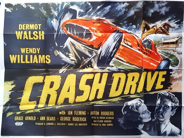Crash Drive - Original UK Quad Movie Poster, 1959