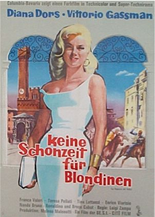 The Love Specialist - Diana Dors, Original Movie Poster, West Germany 1958