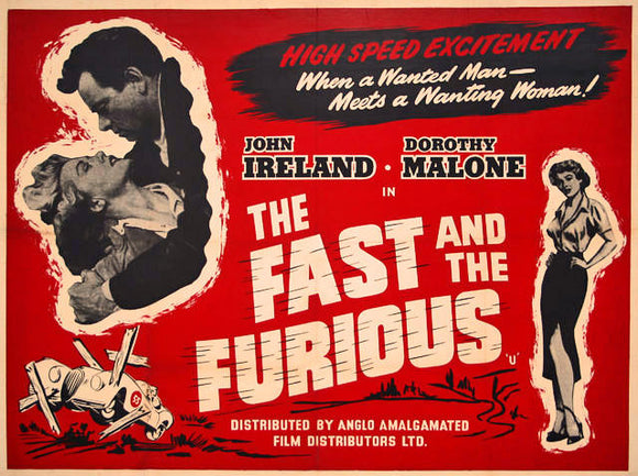 Fast Furious Original Movie Poster 1954