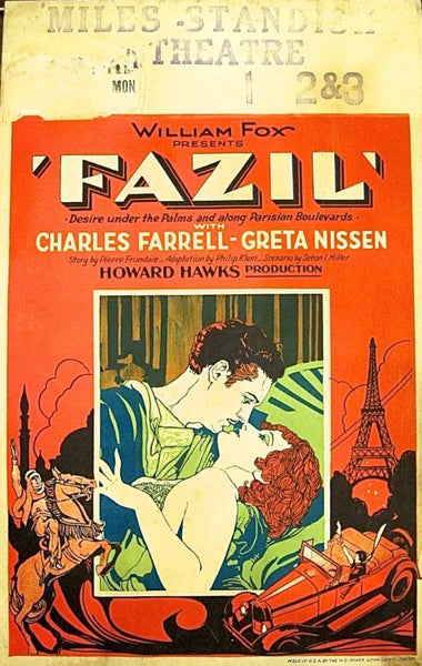 Fazil , Original US Movie Poster, 1928, Art Deco