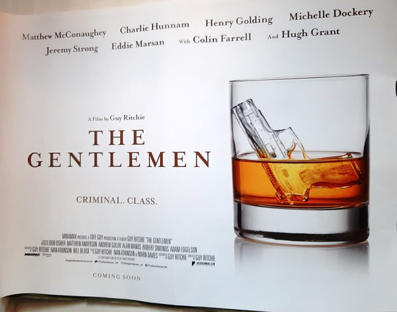 The Gentlemen  - Guy Ritchie - Original UK Teaser Quad, 2020