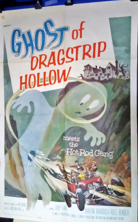 The Ghost of Dragstrip Hollow, USA 1959. Original Movie Poster.