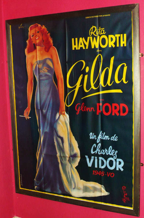 GILDA - Rita Hayworth - Beautiful & Inexpensive French re-release poster, 1970