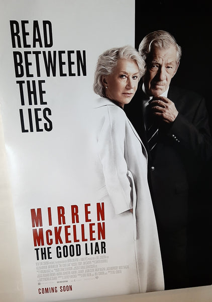 The Good Liar - Helen Mirren, Ian McKellen, Original UK Movie Poster, 2019