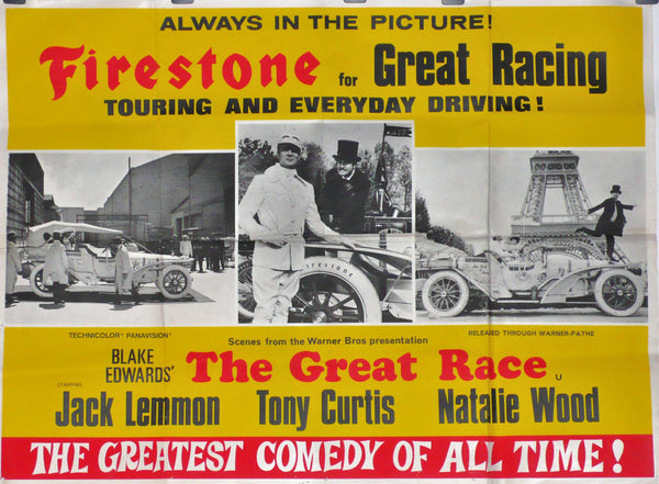 Firestone & The Great Race, Original Movie Poster, 1965