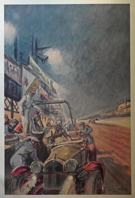 Geo Ham PRINTS France , Le Mans, Bentley, Aston Martin, Alfa Romeo