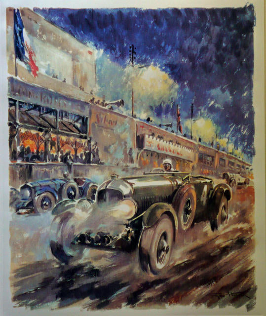 Bentley at Le Mans 1930  UK 1930 REPRO. Geo Ham