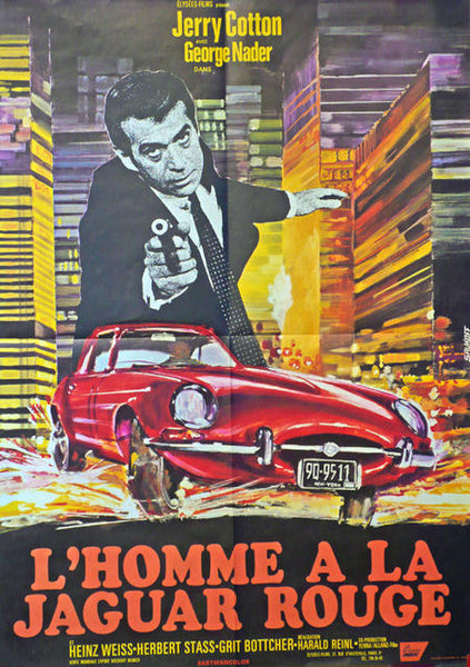L\'Homme a la Jaguar Rouge  France 1968