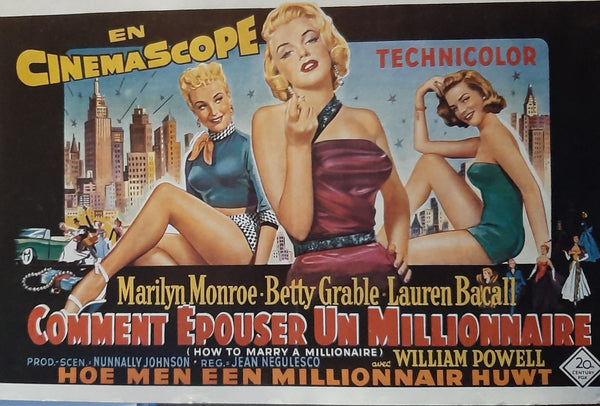How to Marry a Millionaire - Marilyn Munroe, Lauren Bacall, Betty Grable