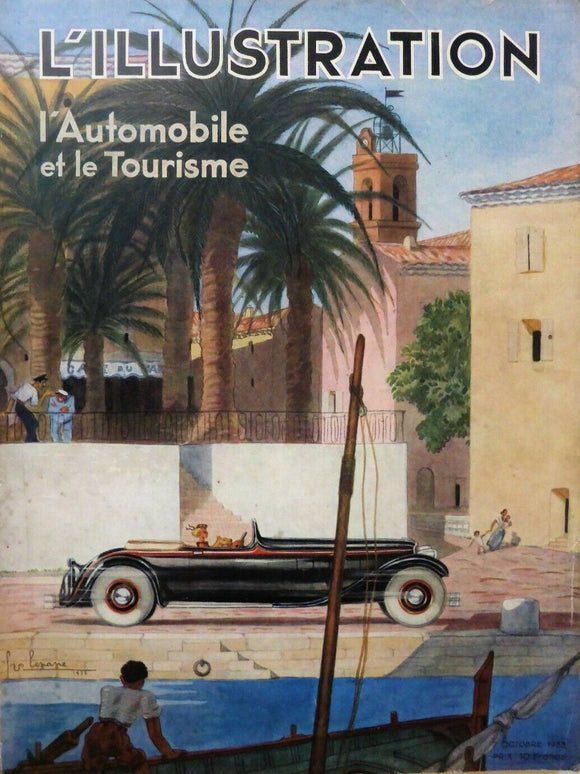 L'Illustration Magazine, France, 1933. Art Deco, Geo Ham, Automobile Special