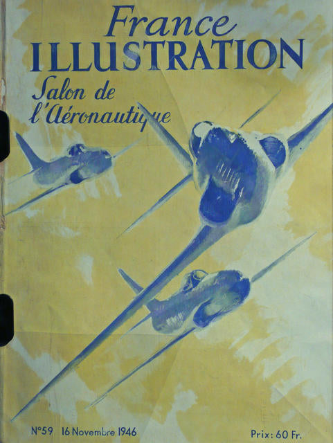 Illustration SALON de l'Aeronatique Nov. 1946  France 1946
