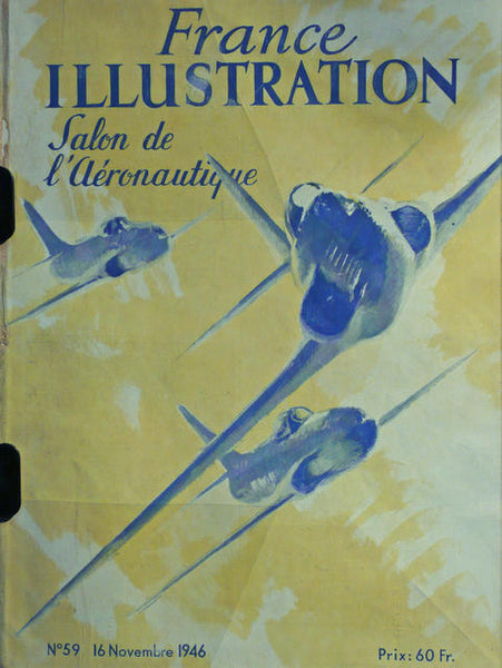 Illustration SALON de l\'Aeronatique Nov. 1946  France 1946