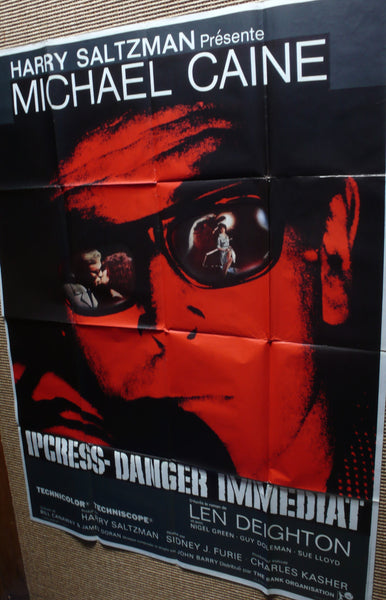 The Ipcress File - Original French Movie Poster, 1965. Michael Caine - Harry Palmer